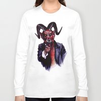 satan Long Sleeve T-shirts featuring Uncle Satan by Zombie Rust