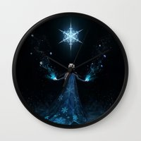 frozen Wall Clocks featuring Frozen by Westling