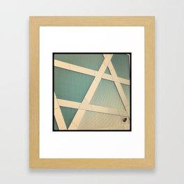 crossing dots Framed Art Print
