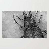 beetle Area & Throw Rugs featuring Beetle by Salih Gonenli