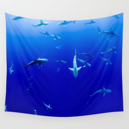 Party Sharks Wall Tapestry
