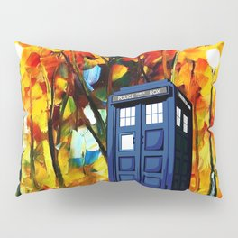 Tardis starry night in the forest Pillow Sham