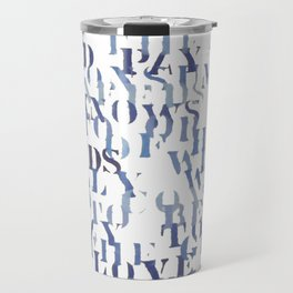 Sentences of Love Blue Travel Mug