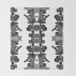 Black Ink Blots Throw Blanket