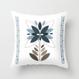 Be unique - Retro flowers Throw Pillow