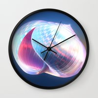shell Wall Clocks featuring Shell by Lynn Bolt