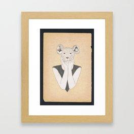 Mouse Girl Framed Art Print