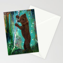 Spirit Cub Finds the Honey Stationery Cards