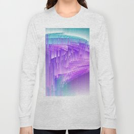 Flame - Pixel sort purple Long Sleeve T-shirt
