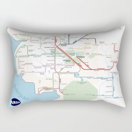 Beleriand Routemap Rectangular Pillow