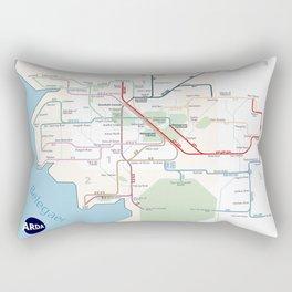 Beleriand Routemap Rectangular Pillow