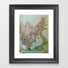 Octopus Owl  Framed Art Print