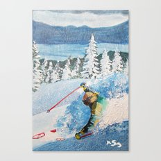Heart Lakes Canvas Print