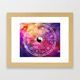 We are one with the universe Framed Art Print