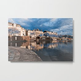 Nantes Riverside Scenery - Winter Blue Fantasy Metal Print