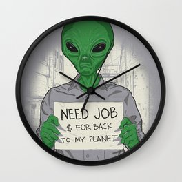 Jobless On Earth Wall Clock