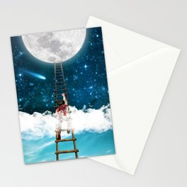 Reach for the Moon v2 Stationery Cards
