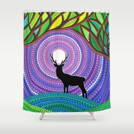 A Silent Visitor Shower Curtain