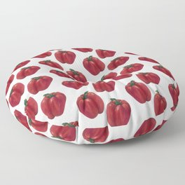 Red Bell Pepper pattern Floor Pillow