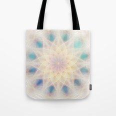 Water Lily Mandala Tote Bag