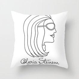 Gloria Steinem Feminist Icon Profile Throw Pillow