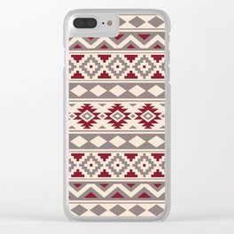 Aztec Essence Ptn IIIb Red Cream Taupe Clear iPhone Case