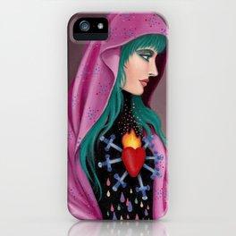 Stabby Rainbow Heart iPhone Case