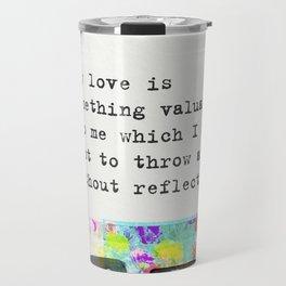 Charlotte Bronte Quotes Travel Mug