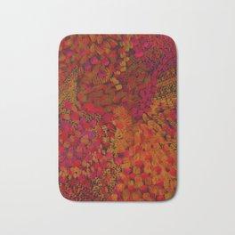 Crimson Watercolor Painting Bath Mat