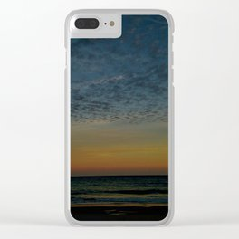 Spotty Clouds Clear iPhone Case