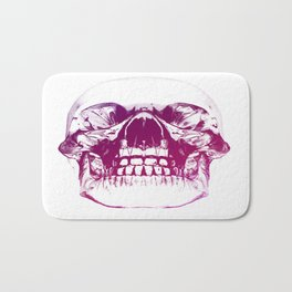 purple crystal skull Bath Mat
