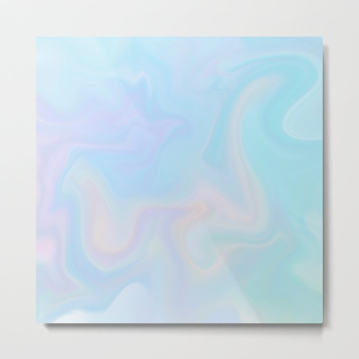 pastel marble Metal Print