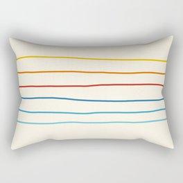 Bright Classic Abstract Minimal 70s Rainbow Retro Summer Style Stripes #1 Rectangular Pillow
