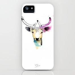 Watercolour Creatures - Elk iPhone Case