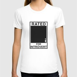 Rated i for Introvert T-shirt