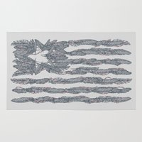 garfield Area & Throw Rugs featuring America Feather Flag by Sitchko Igor