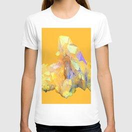 YELLOW QUARTZ CRYSTAL GOLDEN COLOR DESIGN T-shirt