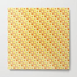 Yellow Orange Pattern Metal Print