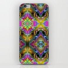 Neon Pinstripes 3 B iPhone & iPod Skin