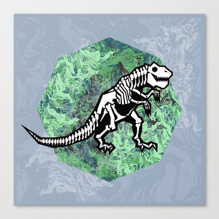 T. Rex Fossil Canvas Print
