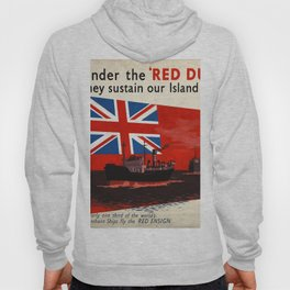 Vintage poster - Under the Red Duster Hoody