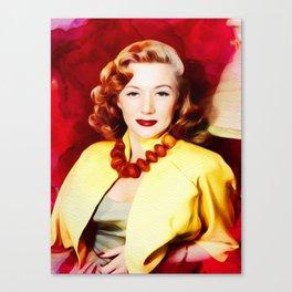 Gloria Grahame, Vintage Actress Canvas Print