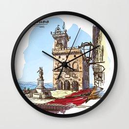 Sketches from Italy - San Marino Wall Clock