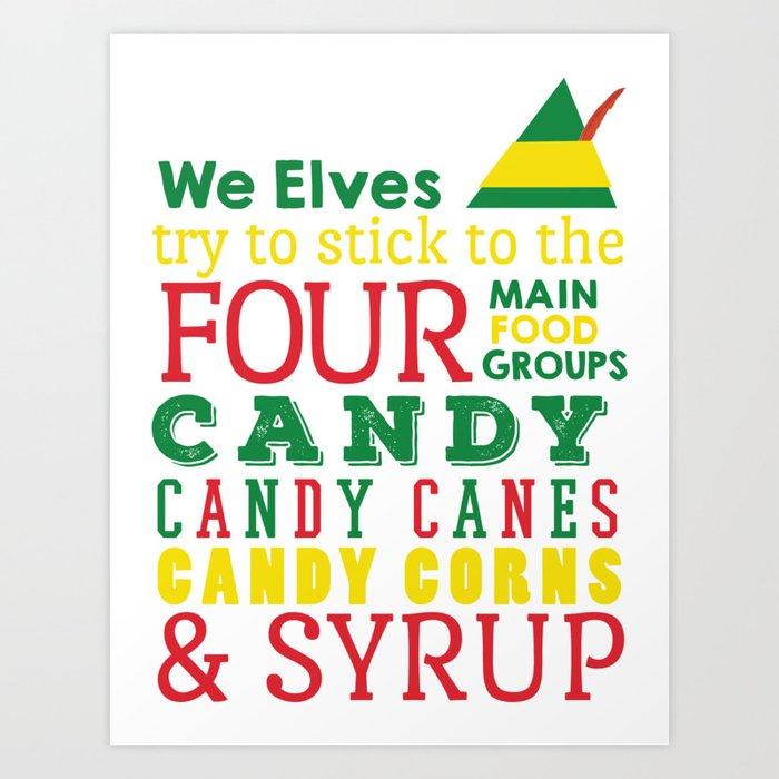 Elves food Groups - Elf the movie Kunstdrucke