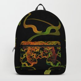Sky Roots Wildstyle Mural of Autumn Fractal Trees Backpack