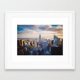 New York City at Sunset Framed Art Print