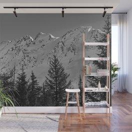 Gwin's Winter Vista - B & W Wall Mural
