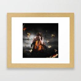 The Fire Inside Framed Art Print