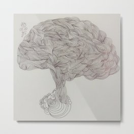 Brain Waves Metal Print