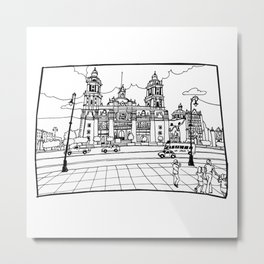 Mexico City´s cathedral Metal Print